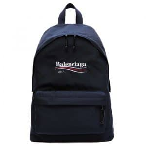 Balenciaga Dark Navy Balenciaga 2017 Logo Explorer Backpack Bag