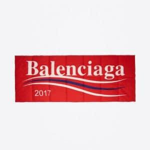 Balenciaga Red Balenciaga 2017 Logo Padded Shawl