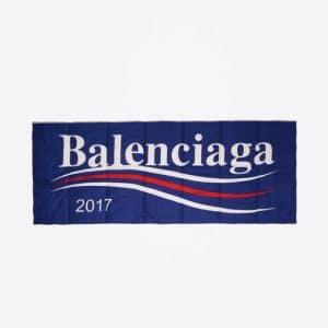 Balenciaga Sapphire Balenciaga 2017 Logo Padded Shawl