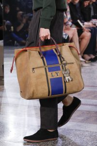 Bottega Veneta Beige/Blue Striped Tote Bag - Spring 2018