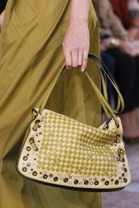 Bottega Veneta Beige/Green Embellished Shoulder Bag - Spring 2018