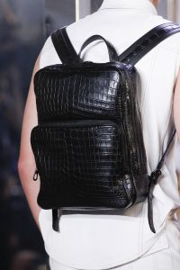 Bottega Veneta Black Crocodile Backpack Bag - Spring 2018