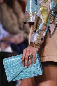 Bottega Veneta Light Blue Crocodile Clutch Bag - Spring 2018