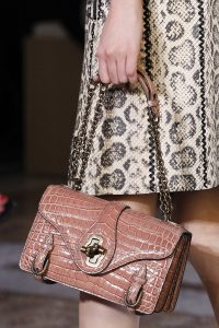 Bottega Veneta Pink Crocodile City Knot Bag 2 - Spring 2018