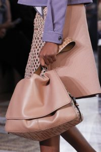 Bottega Veneta Pink Embellished Shoulder Bag - Spring 2018