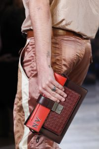 Bottega Veneta Red/Brown Clutch Bag - Spring 2018