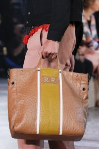Bottega Veneta Tan Striped Ostrich Tote Bag - Spring 2018