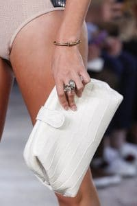 Bottega Veneta White Crocodile The Lauren 1980 Clutch Bag - Spring 2018