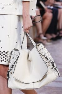 Bottega Veneta White Embellished Shoulder Bag 2 - Spring 2018