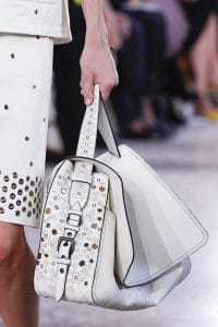 Bottega Veneta White Embellished Shoulder Bag - Spring 2018