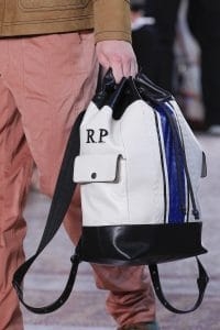Bottega Veneta White/Black Bacpack Bag - Spring 2018