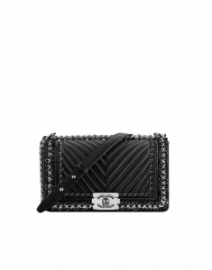 Chanel Black Boy Chanel Jacket Old Medium Bag