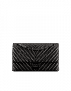 Chanel Black Chevron 2.55 Reissue Size 226 Bag