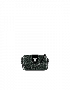 Chanel Black PVC Evening On The Moon Camera Case Bag