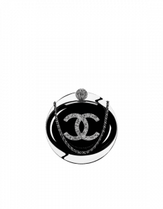 Chanel Black Resin Evening On The Moon Minaudiere Bag