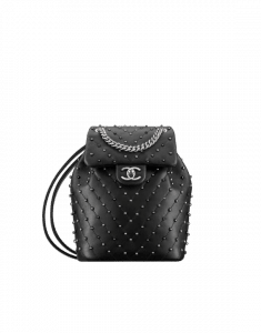 Chanel Black Stud Wars Backpack Bag