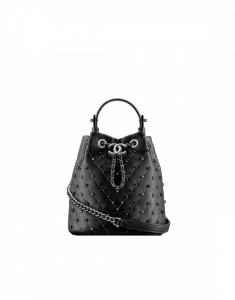 Chanel Black Stud Wars Drawstring Bag