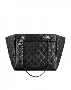 31a64660fe30 Chanel Silver Chevron Space Suit Flap Bag Chanel Black Week End on Mars  Small Shopping Bag ...