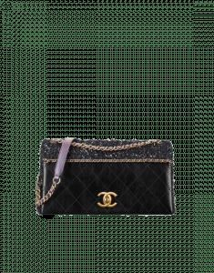 f879ab7b19da ... Chanel Black/Purple Calfskin/Tweed Small Flap Bag ...