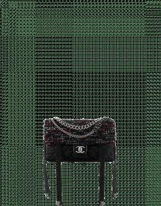 Chanel Black/Red/Navy Blue/White Astronaut Essentials Flap Bag