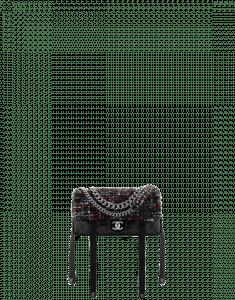 Chanel Black/Red/Navy Blue/White Astronaut Essentials Mini Flap Bag