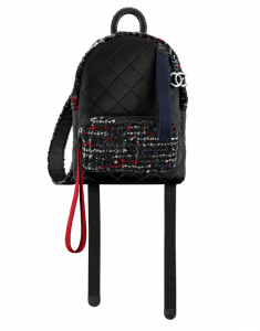 70f47d1ba411 ... Chanel Black/Red/Navy Blue/White Astronaut Essentials Small Backpack  Bag ...