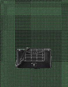 Chanel Black/Silver Braided Fabric/Lambskin Flap Bag