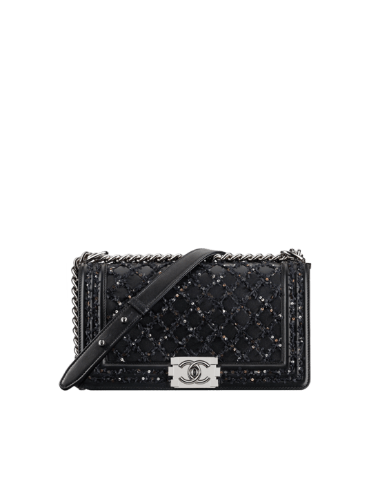 chanel handbags prices. chanel black/silver embroidered lambskin boy old medium bag handbags prices
