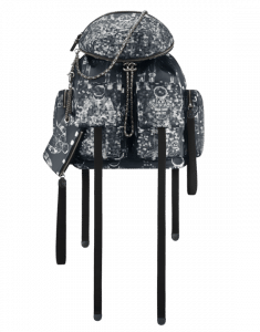 Chanel Black/White Printed Nylon Astronaut Essentials Backpack Bag