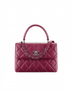 Chanel Burgundy Trendy CC Small Top Handle Bag