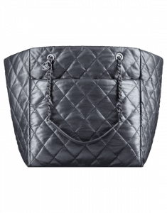 Chanel Charcoal Week End on Mars Large Shopping Bag