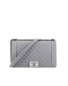 Chanel Gray Boy Chanel New Medium Bag