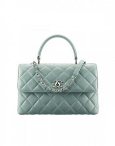 Chanel Green Trendy CC Medium Top Handle Bag