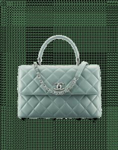 Chanel Green Trendy CC Medium Top Handle Bag