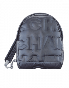 Chanel Navy Blue Embossed Nylon Chanel Doudoune Small Backpack Bag