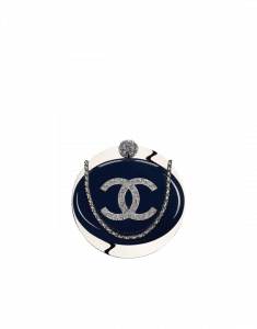 Chanel Navy Blue Resin Evening On The Moon Minaudiere Bag