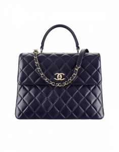 Chanel Navy Blue Trendy CC Large Top Handle Bag