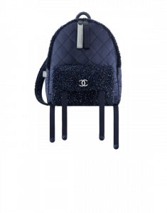 Chanel Navy Blue/Silver Astronaut Essentials Backpack Bag