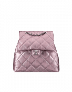 Chanel Pink Iridescent Calfskin Backpack Bag