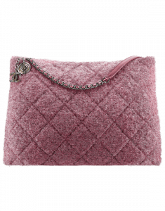 Chanel Pink Knit Pluto Glitter Large Shopping Bag