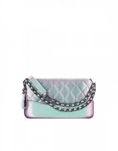 50760e58e41f ... Chanel Purple Iridescent Lambskin Gabrielle Clutch Bag with Chain ...
