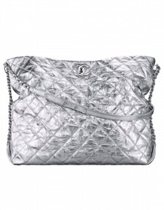 Chanel Silver Big Bang Large Hobo Bag