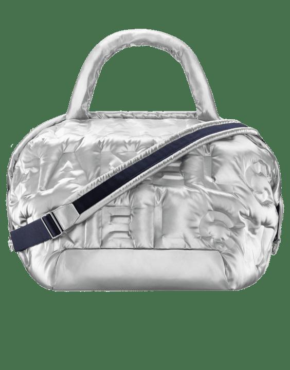 ced64b90071e57 Chanel Silver Embossed Nylon Chanel Doudoune Large Zipped Shopping Bag