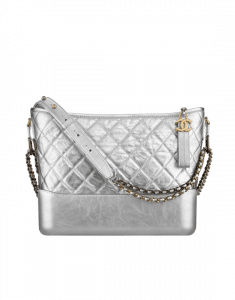 Chanel Silver Gabrielle Hobo Bag
