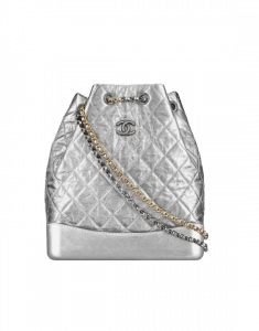 Chanel Silver Gabrielle Large Backpack Bag