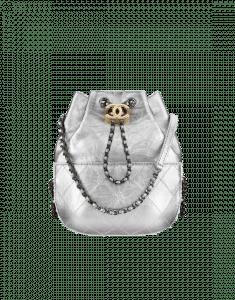 Chanel Silver Gabrielle Purse Bag