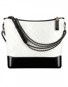 Chanel White/Black Gabrielle Large Hobo Bag