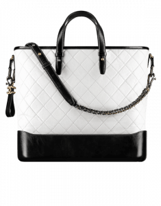 Chanel White/Black Gabrielle Large Shopping Bag