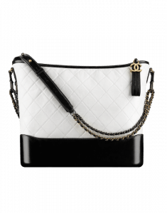 Chanel White/Black Gabrielle Medium Hobo Bag