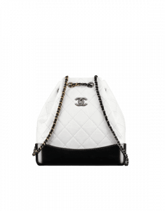 Chanel White/Black Gabrielle Small Backpack Bag